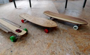 Fertig gebaute Longboards
